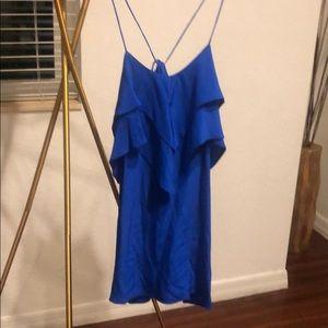 Thin Strap Blue Mini Dress Party Dress Small Luna